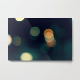 Lights Green Metal Print