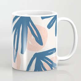 Lovely leaves and polka dot hand painted on pastel background illustration pattern Coffee Mug