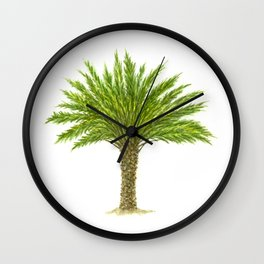 True Date Palm Tree Wall Clock