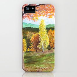 Green Hill Country iPhone Case