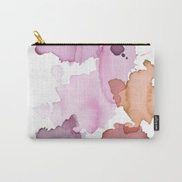 Inky abstract mark making painting print Carry-All Pouch