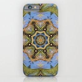 White Pine Branch Mandala iPhone Case