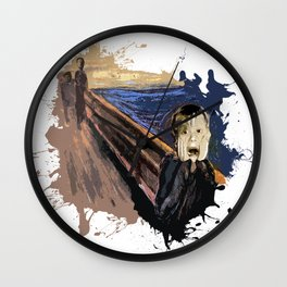 Screaming Alone Wall Clock
