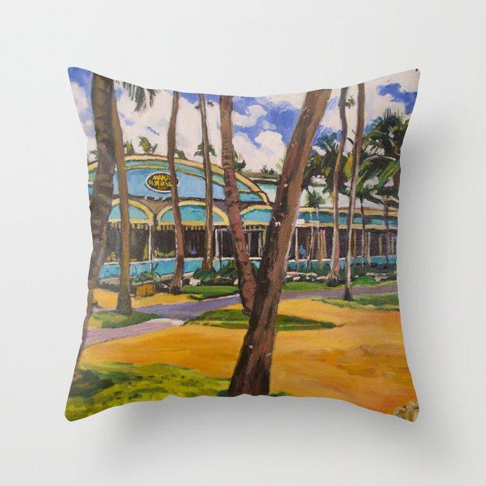 Mama's Fish House, Maui Throw Pillow