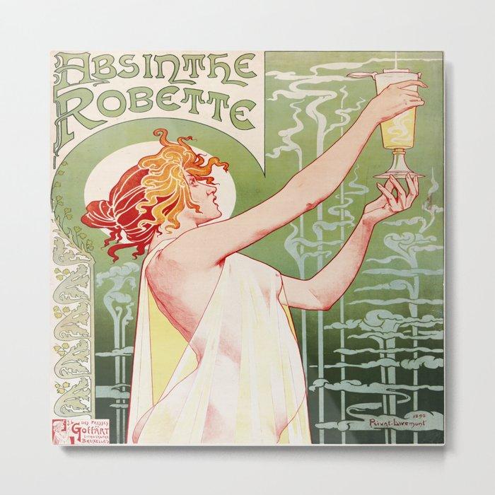Art Nouveau Absinthe Robette Ad Metal Print