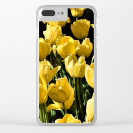 Lovely Yellow Tulips Clear iPhone Case
