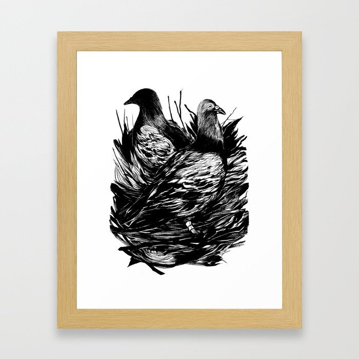 Carrier Pigeons Framed Art Print