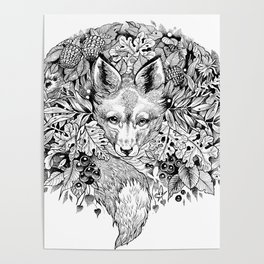 hidden fox Poster