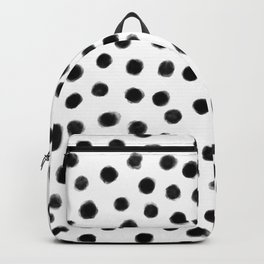 black polka dots Backpack