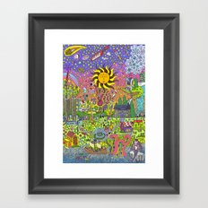 PSYCHEDELIC SUNSET Framed Art Print