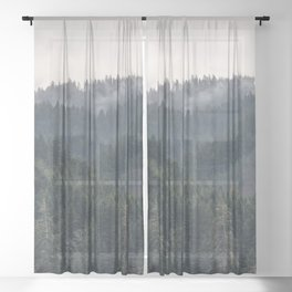 Pacific Northwest Forest - Nature Photography Sheer Curtain