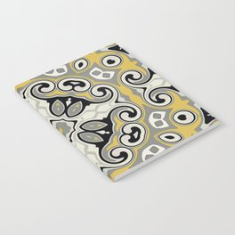 Edwardian Geo Yellow Grey Notebook