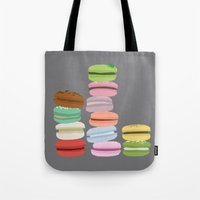 macarons Tote Bags featuring Macarons by Eunice Wong