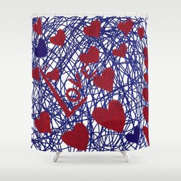 Entangled Hearts Shower Curtain