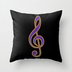 Rainbow G Clef Treble Clef Music Lover Musician Throw Pillow