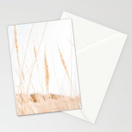 Beachgrass Photo   The Netherlands Travel Photography   Backlight In Nature Overexposed Stationery Cards