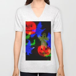 Ghosts And Ghouls Unisex V-Neck