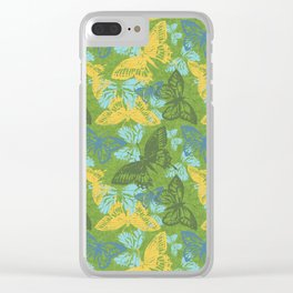 Cool Butterflies Clear iPhone Case