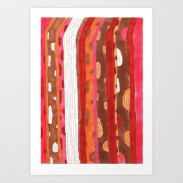 Wooden Two Art Print