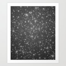 Logic Will Get You From Point A to Point B (Geometric Web/Constellations) Art Print