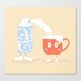 Milky Couple Canvas Print