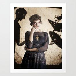 The Princess Who Never Smiled Art Print