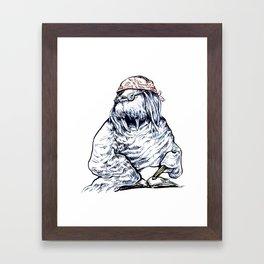 David Foster Walrus T-Shirt Framed Art Print