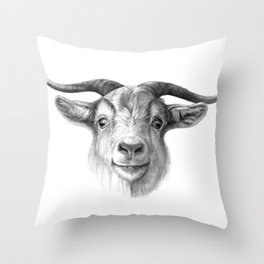 Curious Goat G124 Throw Pillow