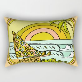 drifting to paradise surf art by surfy birdy Rectangular Pillow