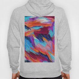 Bright Abstract Brushstrokes Hoody