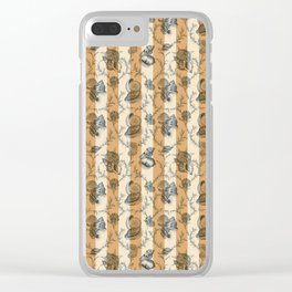 Stripes & Shells - orange Clear iPhone Case