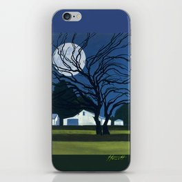 The Farm By Moonlight iPhone Skin