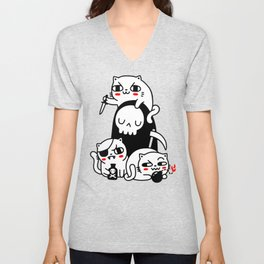Death Is Cat Person Unisex V-Neck