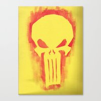 punisher Canvas Prints featuring Punisher by irvpaj