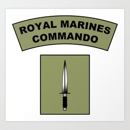 Royal Marines Commando Flash  Art Print