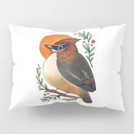 Cedar Waxwing Pillow Sham