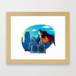 Rooftop break Framed Art Print