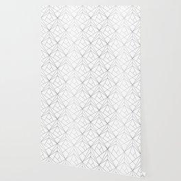 Geometric Silver Pattern Wallpaper