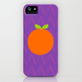 Orange Chevron iPhone Case