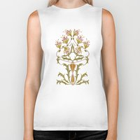 art nouveau Biker Tanks featuring art nouveau by Ariadne