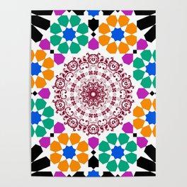 full color mandala Poster