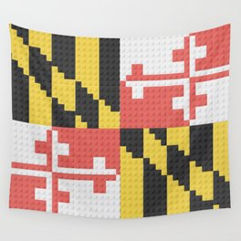 Maryland State Flag Building Block Design Wall Tapestry
