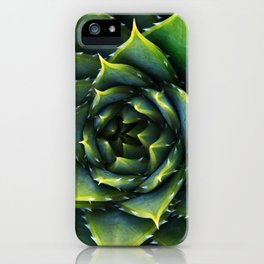 Green and thorns iPhone Case