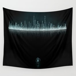 TRON CITY Wall Tapestry