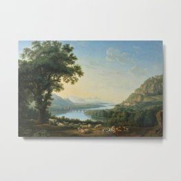 The River Volturno in the Italian Apennines by Jakob Philipp Hackert Metal Print