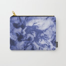 Asahi - spilled ink indigo blue water waves ocean topography map maps painting marble swirl blue Carry-All Pouch