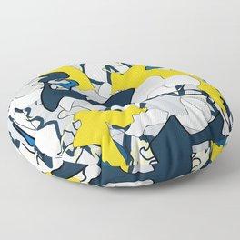 In Blue Floor Pillow