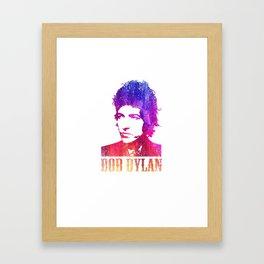Bob Dylan Print Framed Art Print