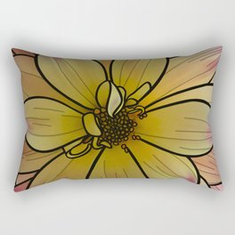 Yellow & Pink Dahlia Rectangular Pillow