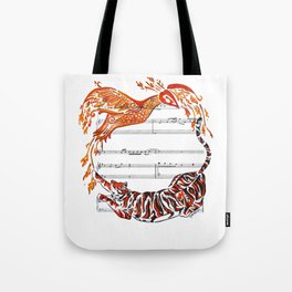 The Tiger and the Phoenix Tote Bag
